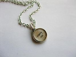'Carry On' Tiny Pendant by ldhenson