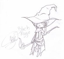 Black Mage Chibi by saultsault