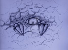 Creature in the Clouds by Inkblot-Rabbit