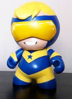 Booster Gold Mini Munny by n3gative-0