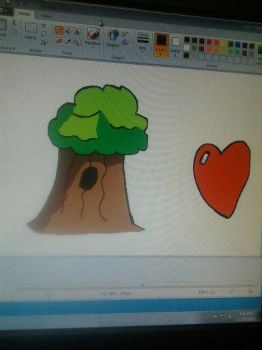 tree and heart by flamescorch