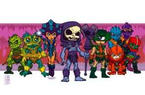 Skeletor's Crew by lordmesa