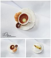 Tea with lemon by OrionaJewelry