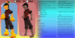 Flame Heiss' character sheet by Huispe