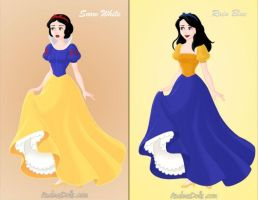 Snow White and Rain Blue by KendraKickz0220