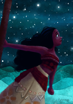 Moana, the Ocean and the Stars by LBonne
