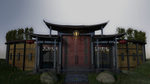 Front Gate to 'The Twins' Hidden Fort by tesseractPhobia
