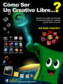 Poster Creativos Libres. Made with Inkscape by BikerMice2015