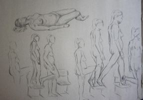 life drawing - 5 minutes - walking by SwarzezTier