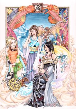 What happened? FFX Fanart by Maihunaa
