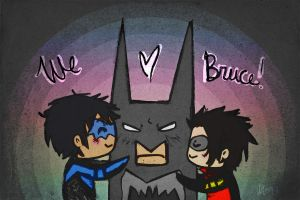 Less than three Bruce -Batman- by CrimsonEscapist