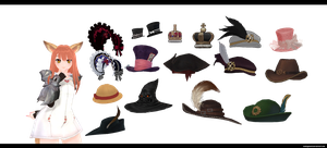 MMD Acc: Tera Hats by kaahgomedl