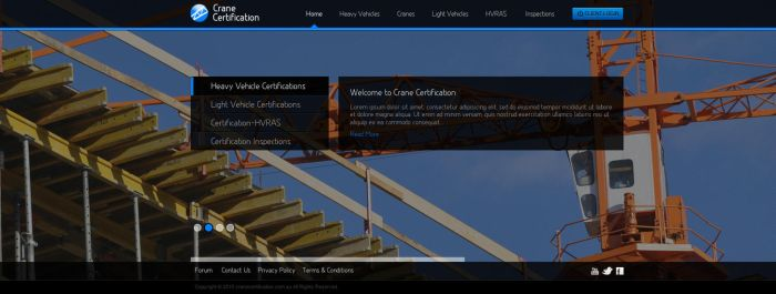 Crane Certification Website by View9