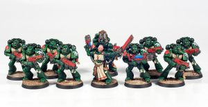Dark Angels Space Marines Squad by Dullspork