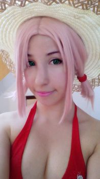 Haruno Sakura Beach Cosplay by Claudia-Saky