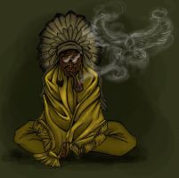 Eagle Tribe Shaman by FATRATKING