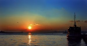 istanbul sunset by petted