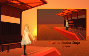MMD: Summer Station Stage DL by Aliorio