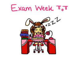 Exam week by pinkystrawberricutie