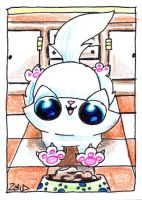 Funny cat dinner time ACEO by KingZoidLord