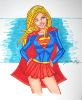 supergirl sketch by JamieFayX