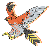 ...pogheys...Talonflame by Rainbow-Cemetery