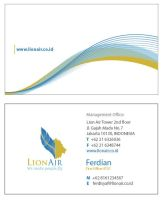 Lion Air Name Card by mirelsa