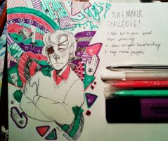 pen and marker challenge! by Nikaerin