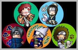 SD Buttons: Naruto set by zelas