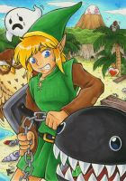 Link and his Dog by Merinid-DE