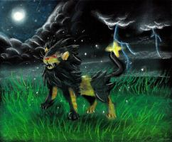 Shiny Luxray by hamsterSKULL