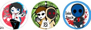 Creepypasta FAN Badge by DeluCat