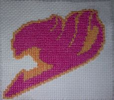 Fairy Tail - cross stitch by Tifa666