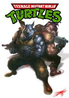 bebop and Rocksteady(TMNT) by HeeWonLee