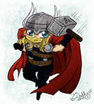 The Mighty Tiny God Of Thunder - Thor by Isi-Daddy