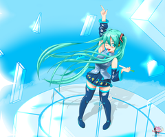Miku - Glass-sky by Paskiz
