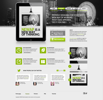 Newap freebie web template by JakubSpitzer