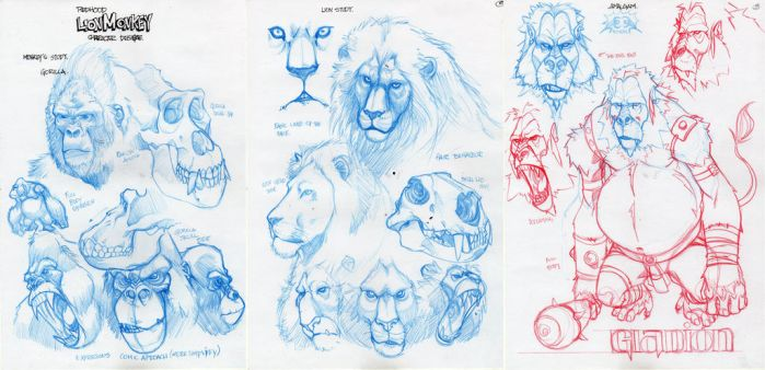 Character design lionmonkeys by biroons
