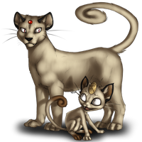 Meowth and Evo by AFrozenHeart2