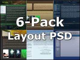 6-Pack Free Layout PSD by bjnorberg
