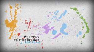 Photoshop Splatter Brushes by reecito