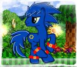 Sonic as a pony by Mileskiller70