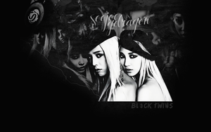 Wallpaper - VOGUEs Black Twins by xSparklyVampire
