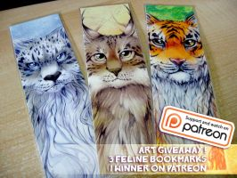 Art Giveaway bookmarks by tikopets