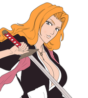 Rangiku Matsumoto coloreado by hanautaNovin