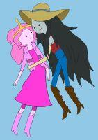 Princess Bubblegum and Marceline by NicoSchmiko