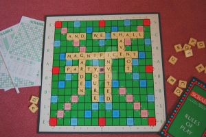 Scrabble at the Garden Party by Sianana