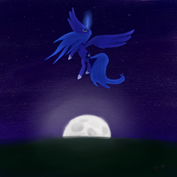 Luna in the night by ThatSeven