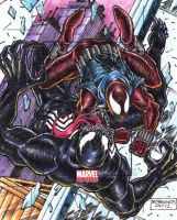 scarlet spider vs. venom by danborgonos