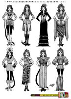 Female Character Costume Design Concepts Part 2 by STUDIOBLINKTWICE